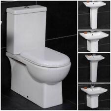 Cloakroom Ceramic Pedestal Home Bathroom Sinks