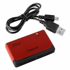 Red Black 26-IN-1 USB 2.0 MEMORY CARD READER FOR CF/xD/SD/MS/SDHC