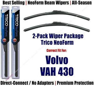 2pk Super-Premium NeoForm Wipers fit 2019 Volvo VAH 430 - 16160x2