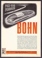1943 Futuristic Streamlined Bus of Tomorrow art BOHN Aluminum vintage print ad