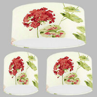 Handmade Lampshade with Laura Ashley Geranium Cranberry Red Wallpaper Lamp Shade