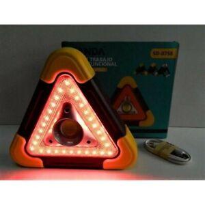 Triangle signalisation auto Lumineux Fixe Et Clignotant+ lampe neuf