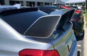 Spoiler Wing Side Vinyl Overlays For 2015+ Subaru WRX STI Carbon Fiber AR Tech
