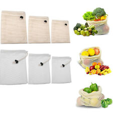 Cotton Mesh Bags Lightweight Fruit Vegetable Shopping Storage Recyclable Net Bag