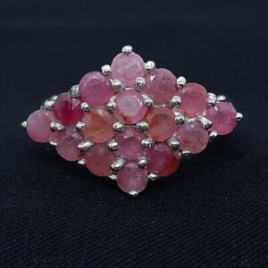World Class 2.10ctw Mozambique Ruby 925 Sterling Silver Ring Size 7.75 5.4g
