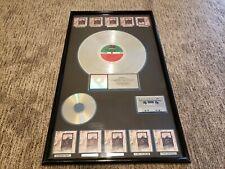 Led Zeppelin IV 4 RIAA Multi-Platinum 10 Million Sales Award Atlantic Records