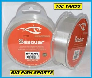 SEAGUAR STS SALMON & TROUT/STEELHEAD FLUOROCARBON LEADER 50lb/100yd NEW 50STS100