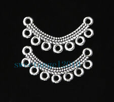 10X Tibetan Silver 7 Holes Connector Base Jewelry Necklace Finding 2.5CM