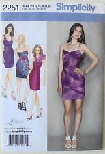 Simplicity 2251 Laura Lynn Misses Dresses Wrap Top Sewing Pattern Sz 12-20
