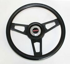 "74-94 GMC Truck Grant Black Steering Wheel with Black spokes 13 3/4"" GMC cap"