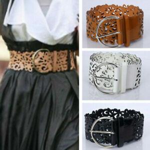 Ladies Women's Hollow Out Corset Belt Wide Buckle Adjustable Dress Waistband Hot