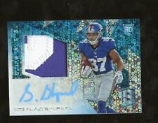 2016 Spectra Neon Blue Sterling Shepard Giants RPA RC Patch AUTO 54/60