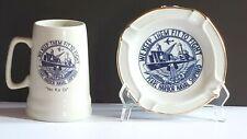 """Pearl Harbor Naval Shipyard """"We Keep Them Fit To Fight"""" Mug & Ashtray Hawaiiana"""