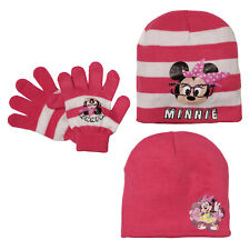 Disney Minnie Mouse Beanie Knit Hat Reversible Hat And Gloves Winter Set 1 Size