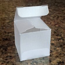 """Frosted Cube Candy Favor Boxes, 1 5/8"""" Square, Sets of 10"""