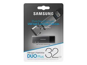 Samsung DUO Plus 32GB/64GB USB 3.1 Type-C, & type -A Speed Up 200 MB/s-UK