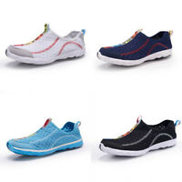 Men's Women Mesh Slip on Water Shoes Casual Lightweight Beach Walking Sneakers