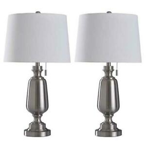 Cory Martin 30.5'' Ant Brass Table Lamp w/ USB Port (2-Pack) by Fangio Lighting