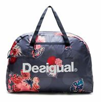 Desigual Scarlet Bloom Packable Gym Bag Sporttasche Tasche Peacoat Blau Rot Neu