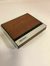 Sony AM Transistor Radio Wood Gain Push Button Flip Up Design Made In Japan RARE