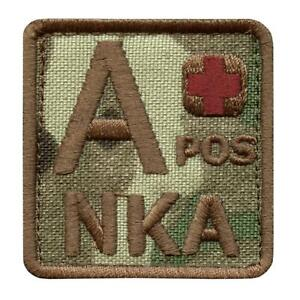 A+ APOS NKA blood type multicam NKDA IFAK morale army tactical combat patch