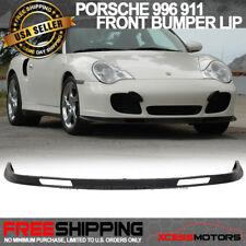 Fit Porsche 996 911 Turbo Carrera 4 4S Front Bumper Lip Spoiler Urethane Bodykit