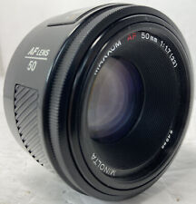 Vintage Minolta AF 50mm f/1.7  Maxxum / Sony A-Mount Lens Japan EUC