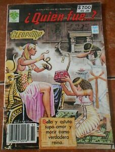 QUIEN FUE comic CLEOPATRA queen nile EGYPTIAN PHARAOH egypt MARC ANTHONY vintage