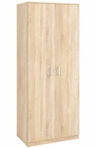 2-türiger Schrank RELAX 01 laminierte Platte Wohnzimmer Breite 80cm Sonoma hell