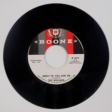 TEX WILLIAMS: Here's to You and Me BOONE USA Country 45 NM Stock