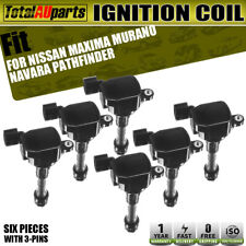 Set of 6 Ignition Coils Pack for Nissan Maxima Murano Navara Pathfinder Elgrand