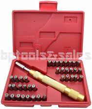 38pc Letter Number Stamping Stamp Tool Set Kit Automatic Metal Punch Stamp