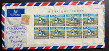 1964 Wellington New Zealand Airmail Cover To Erie PA USA Penguins Sheet