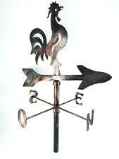 Rooster Cockerel Weathercock Iron Weathervane Compass Outdoor Balcony Roof