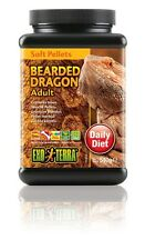 Exo Terra Reptile Bearded Dragon Adult Soft Pellets Food Diet 1 Lb.3 oz. 540g