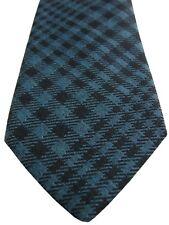 DUCHAMP LONDON Mens Tie Brown & Blue Check