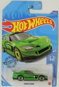 2020 Hot Wheels Honda S2000 Green 153/250 Honda #4 GHF82