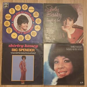 Vinyl Records Collection of 4 x  Shirley Bassey LP's - job lot -