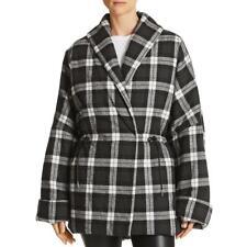 Divine Heritage Womens Plaid Kimono Jacket Puffer Coat Outerwear BHFO 8571
