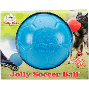 "Jolly Pets 6"" Soccer Ball, Ocean Blue, Small/Medium"