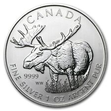 2012 Canadian $5 Moose 1 oz .9999 Silver Coin - Wildlife Series