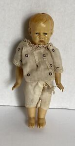 """Vintage  6"""" Celluloid Carnival? Boy Doll with Clothing"""