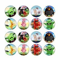 16x EDIBLE Angry Birds Cupcake Toppers Birthday Wafer Paper 4cm (uncut)