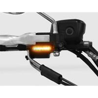 Nasty Lights Short LED Blinker Lenker Armaturen Harley Softail bis 2014 silber