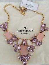 Kate Spade 💯%Authentic Blush Multi Crystal Glitzy Spritz Statement Necklace NWT