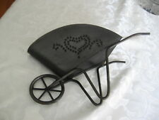 Metal Wheelbarrow Planter Punched Heart Design Wall Or Tabletop Home Interiors