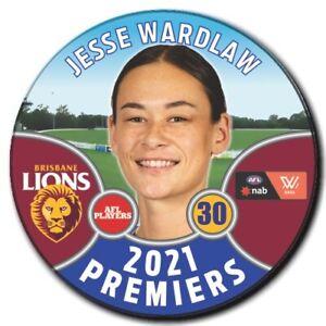 2021 AFLW Premiers Player Badge - WARDLAW, Jesse