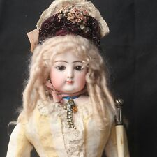 Antique Jumeau Fashion Doll 1860s Closed Mouth original Baroque Dress & Access.