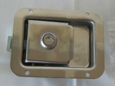 """Stainless Steel Paddle Latch Truck Tool Box  Doors  Lock 3.75"""" x 4.75"""" SS9015"""