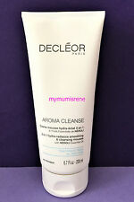 Decleor Aroma Cleanse 3-in-1 Hydra-Radiance Cleansing Mousse 200ml NEW
